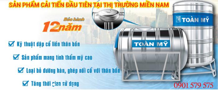 Bồn nước Toàn Mỹ thương hiệu số 1 tại Việt Nam