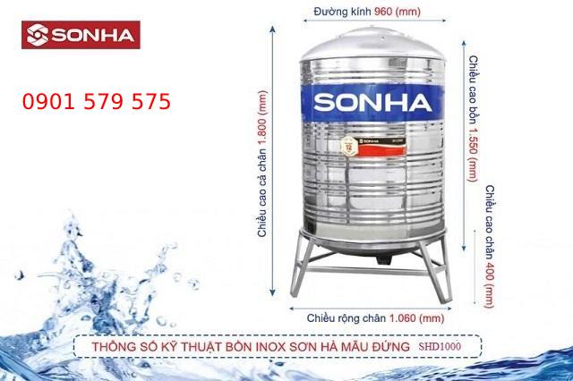 Giá bồn nước sơn hà 1000 lít như thế nào?