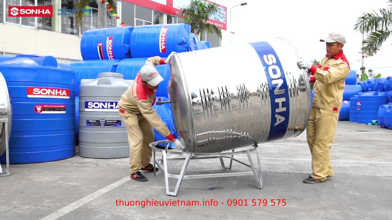 Lắp đặt bồn nước inox Sơn Hà