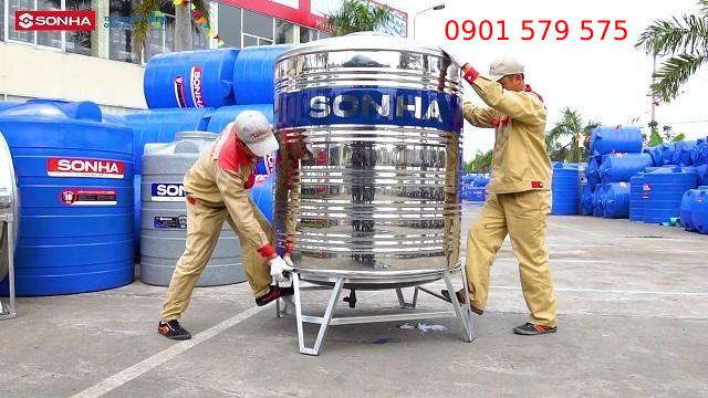Lắp đặt bồn nước sơn hà tại nhà