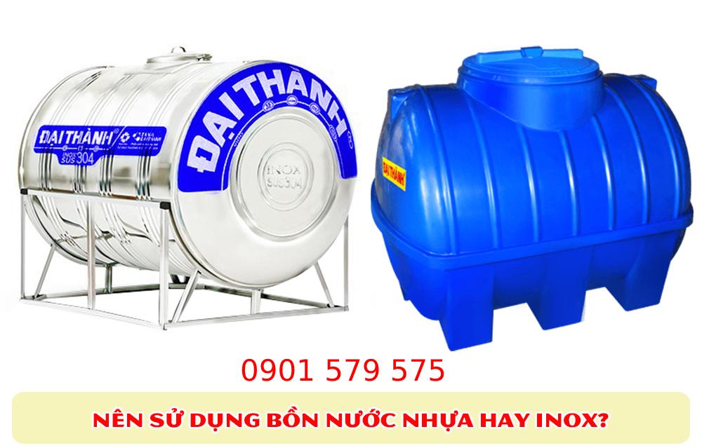 Đặc điểm bồn nước nhựa và bồn nước inox