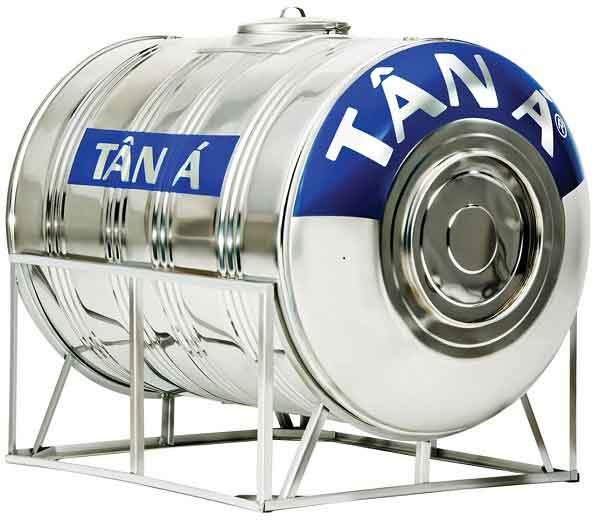 Bồn nước inox 500L ngang chính hãng Tân Á.