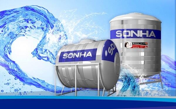 Bồn nước inox chính hãng Sơn Hà 500 lít.