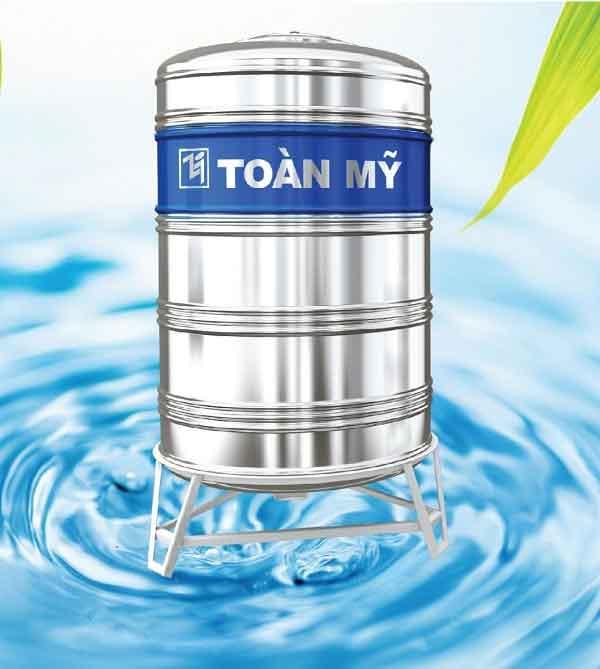 Bồn nước inox 500L đứng chính hãng Toàn Mỹ.