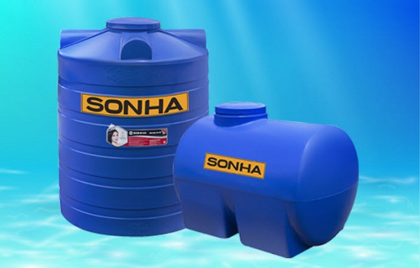 Bồn nước nhựa chính hãng Sơn Hà.