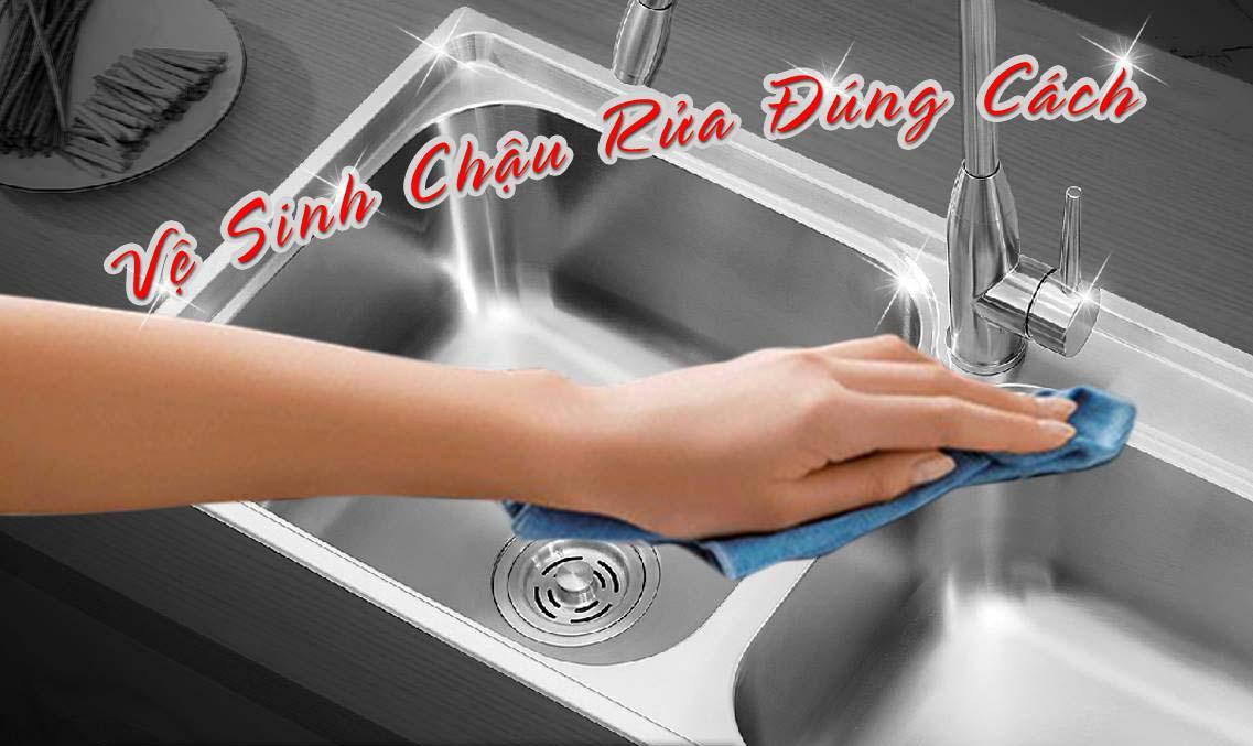 Cách vệ sinh chậu rửa bát inox